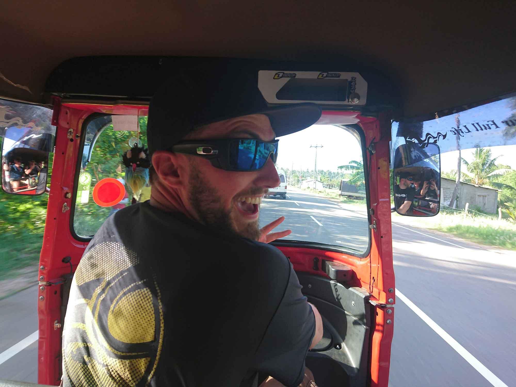 kitesurf school koh phangan - srilanka tuktuk