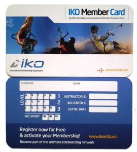 IKO member card