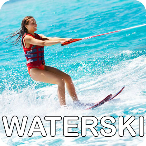 girl waterskiing thailand